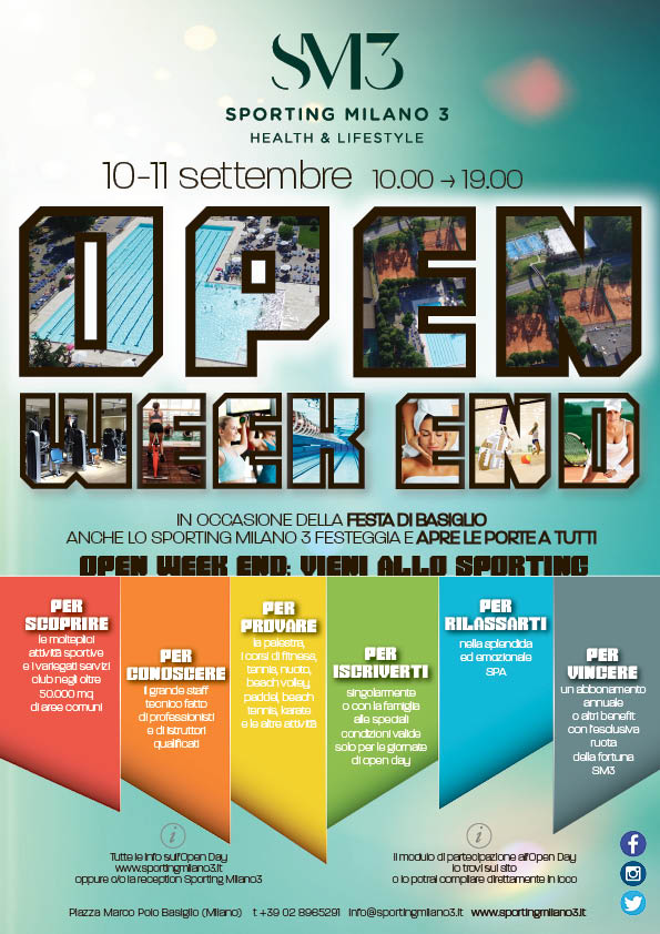 Open Weekend 10 11 settembre 2016